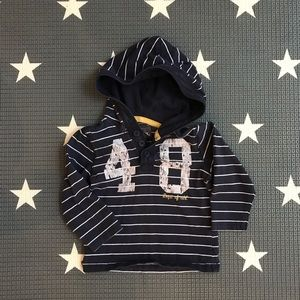 H&M pullover hooded top 1-2Y